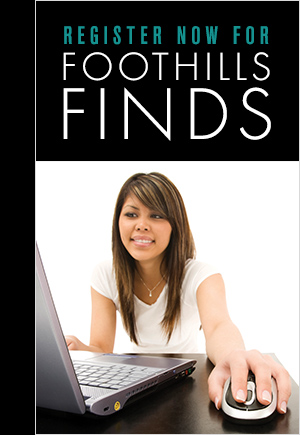 Register now for Foothills Finds